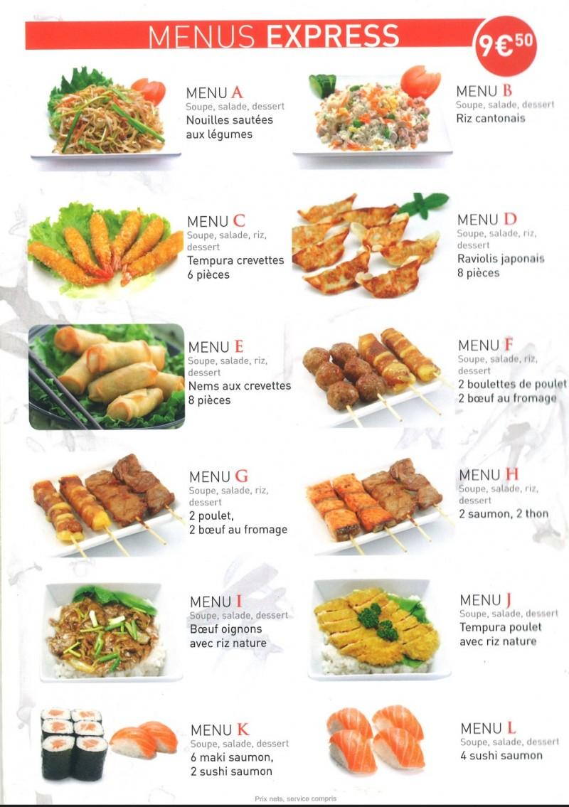 menus express sushis